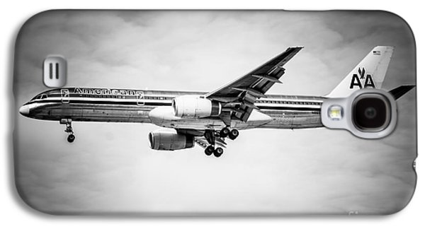 Amercian Airlines Airplane In Black And White Galaxy S4 Case