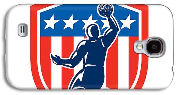 American Basketball Player Dunk Rear Shield Retro Galaxy S4 Case