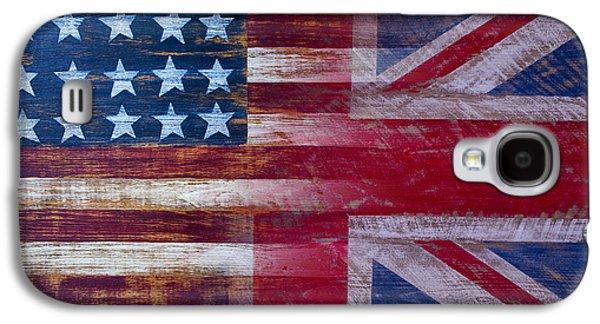 American British Flag 2 Galaxy S4 Case by Garry Gay