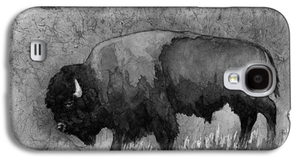 Monochrome American Buffalo 3  Galaxy S4 Case