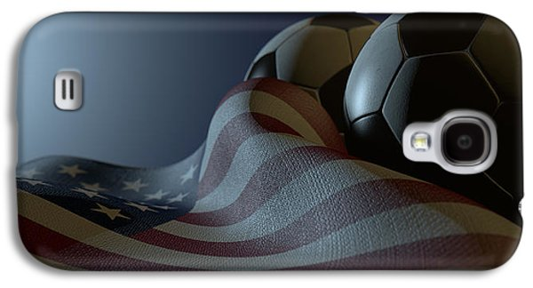 American Flag And Soccer Ball Galaxy S4 Case