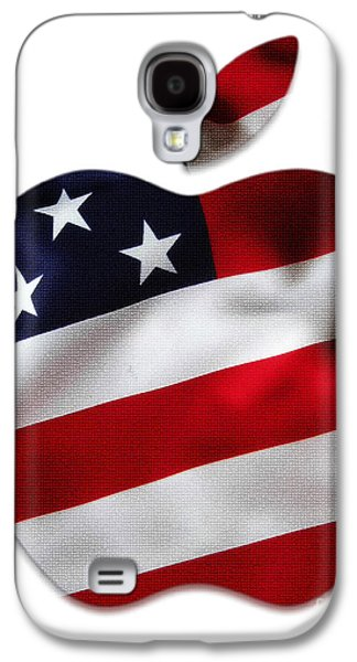 American Flag Apple Galaxy S4 Case by Marvin Blaine