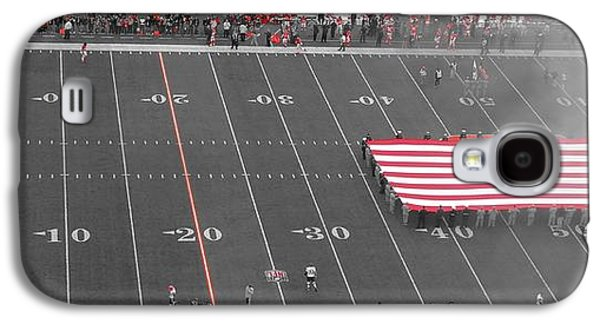 American Flag At Paul Brown Stadium Galaxy S4 Case by Dan Sproul