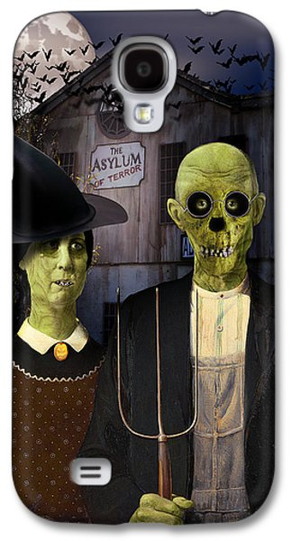 American Gothic Halloween Galaxy S4 Case by Gravityx9  Designs