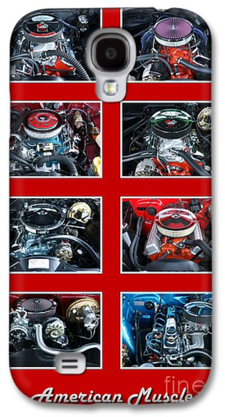 American Muscle Red Poster Galaxy S4 Case by Olivier Le Queinec