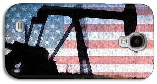 American Oil Rig Galaxy S4 Case by Dan Sproul