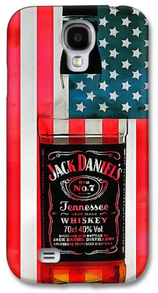 American Whiskey Jack Daniels Galaxy S4 Case by Dan Sproul