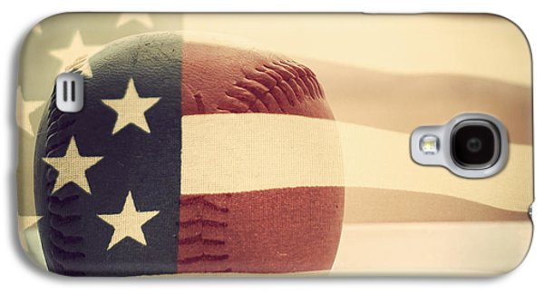 Americana Baseball  Galaxy S4 Case by Terry DeLuco