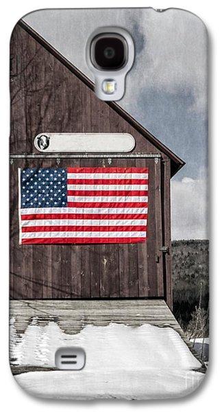 Americana Patriotic Barn Galaxy S4 Case by Edward Fielding