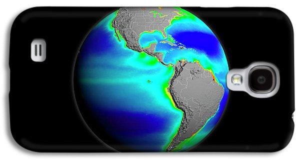 Americas Phytoplankton Levels Galaxy S4 Case by Nasa/gsfc-svs/seawifs/geoeye