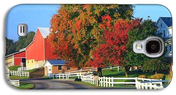 Amish Barn In Autumn Galaxy S4 Case