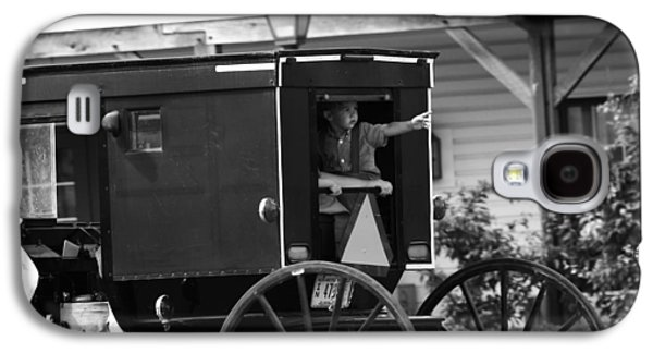 Amish Boy Waving In Horse And Buggy Galaxy S4 Case by Dan Sproul