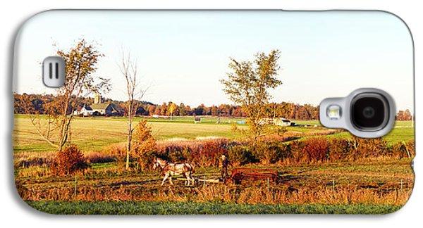 Amish Farmer Plowing A Field, Usa Galaxy S4 Case