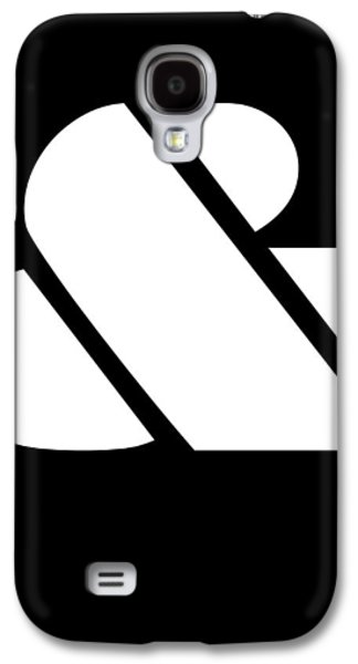 Ampersand Black And White Galaxy S4 Case by Naxart Studio