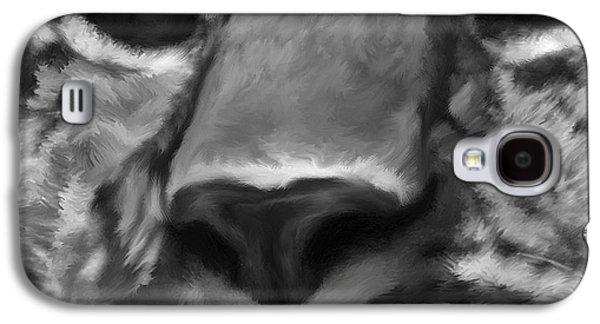 Amur Leopard Digital Freehand Bw Painting Galaxy S4 Case