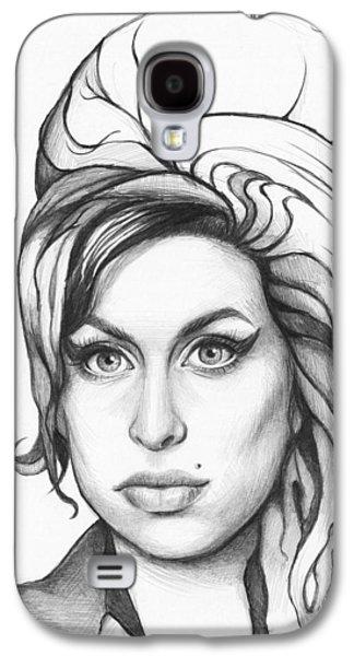 Amy Winehouse Galaxy S4 Case by Olga Shvartsur