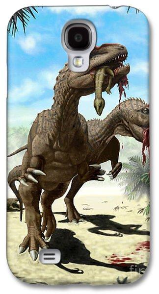 An Allosaurus And A Hypsilophodon Find Galaxy S4 Case