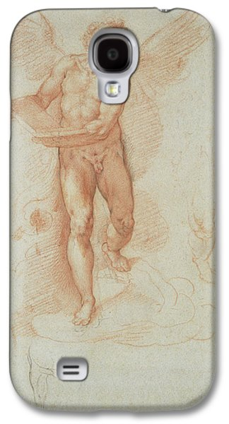 An Angel Holding A Book Recto,  Three Studies Of A Falling Galaxy S4 Case by Litz Collection