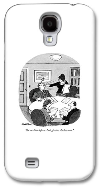 An Excellent Defense. Let's Give Galaxy S4 Case by J.B. Handelsman
