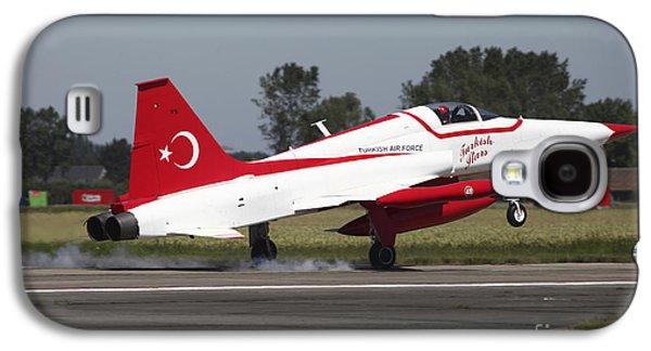 An F-5 Jet Of The Turkish Stars Galaxy S4 Case by Timm Ziegenthaler