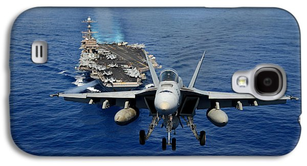 An F/a-18 Hornet Demonstrates Air Power. Galaxy S4 Case