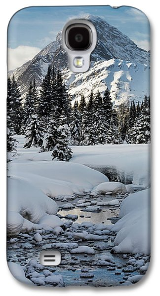 An Open Creek With Snow Covered Curvy Galaxy S4 Case by Michael Interisano