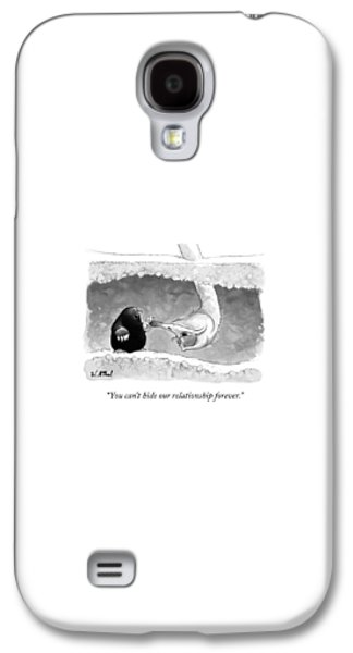 Ostrich Galaxy S4 Case - An Underground Mole Says To A Ostrich Poking by Will McPhail