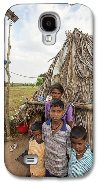 An Untouchable Family Outside Their Hut Galaxy S4 Case