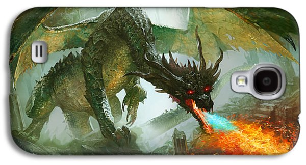 Fantasy Galaxy S4 Case - Ancient Dragon by Ryan Barger