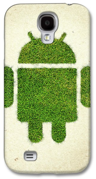 Andoird Grass Logo Galaxy S4 Case by Aged Pixel