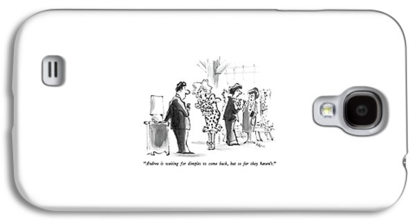 Andrea Is Waiting For Dimples To Come Back Galaxy S4 Case by Lee Lorenz