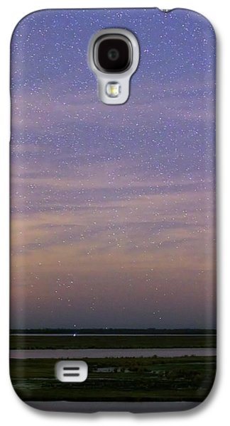 Andromeda Galaxy Over The Parana River Galaxy S4 Case by Luis Argerich