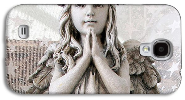 Angel Girl Praying - Christian Angel Art - Little Girl Praying Angel Art - God Answers Prayers Galaxy S4 Case by Kathy Fornal
