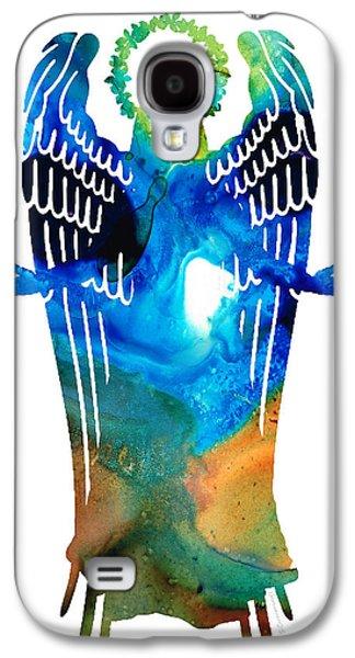 Angel Of Light - Spiritual Art Painting Galaxy S4 Case by Sharon Cummings