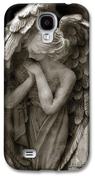 Angel Photography - Dreamy Spiritual Angel Art - Guardian Angel Art In Prayer  Galaxy S4 Case