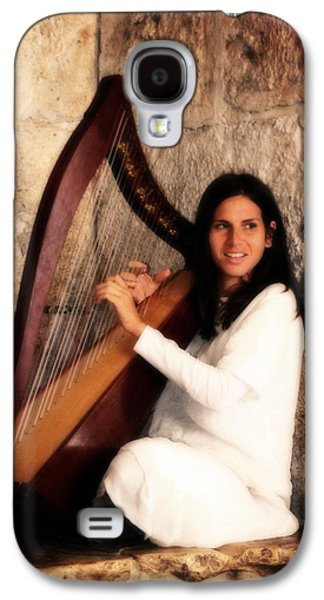 Angel Playing Harp At Western Wall Galaxy S4 Case