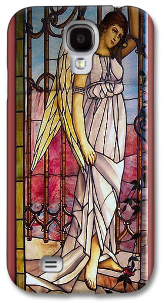 Photography Glass Art Galaxy S4 Cases - Angel Stained Glass Window Galaxy S4 Case by Thomas Woolworth