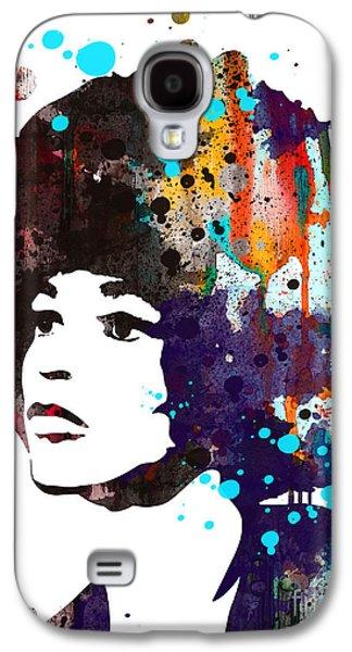 Angela Davis Galaxy S4 Case by Watercolor Girl