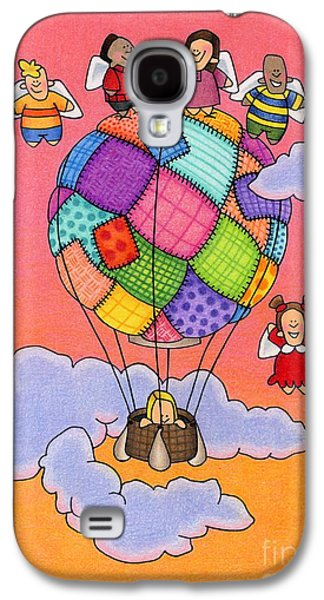 Angels With Hot Air Balloon Galaxy S4 Case by Sarah Batalka