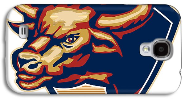 Angry Bull Head Crest Retro Galaxy S4 Case