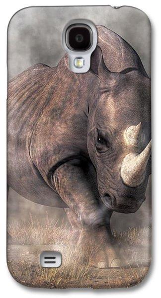Angry Rhino Galaxy S4 Case by Daniel Eskridge