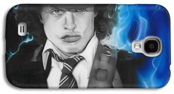 Angus Young - ' Angus ' Galaxy S4 Case by Christian Chapman Art