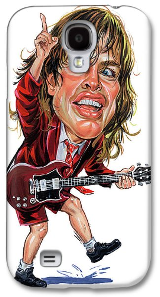Angus Young Galaxy S4 Case by Art