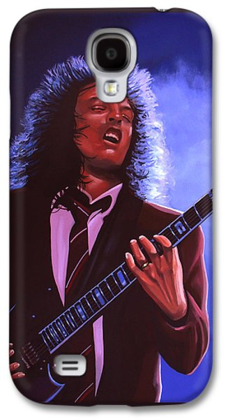 Rock And Roll Galaxy S4 Case - Angus Young Of Ac / Dc by Paul Meijering