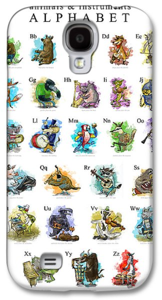 Animals And Instruments Alphabet Galaxy S4 Case by Sean Hagan