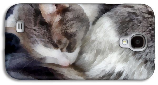 animals - cats - Cat Nap Galaxy S4 Case