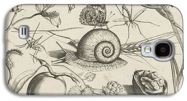 Animals, Plants And Fruits Around A Snail Galaxy S4 Case