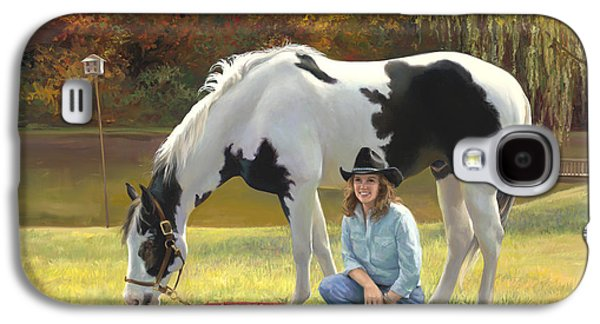 Anita And Horse Galaxy S4 Case by Laurie Hein