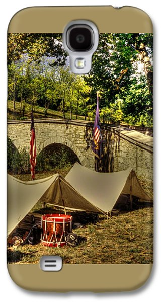 Antietam - 8th Connecticut Volunteer Infantry-a1 Encampment Near The Foot Of Burnsides Bridge Galaxy S4 Case by Michael Mazaika