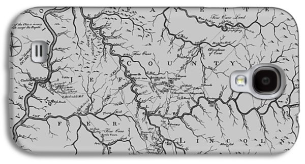 Antique 1784 Kentucky Map Galaxy S4 Case by Dan Sproul